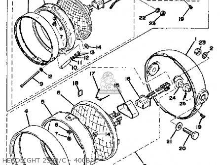 Yamaha Dt250 1976 Usa parts list partsmanual partsfiche
