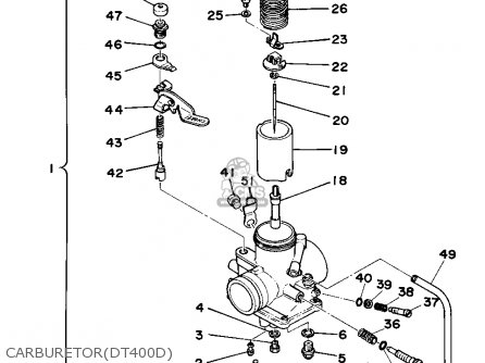 Yamaha Dt250 1977 Usa parts list partsmanual partsfiche