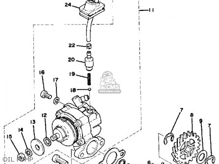 Yamaha DT250 1978 USA parts lists and schematics