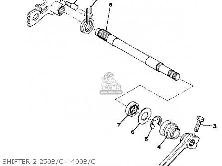 Yamaha Dt250b 1975/1976 parts list partsmanual partsfiche