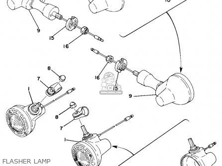 Yamaha Dt250d 1977 parts list partsmanual partsfiche