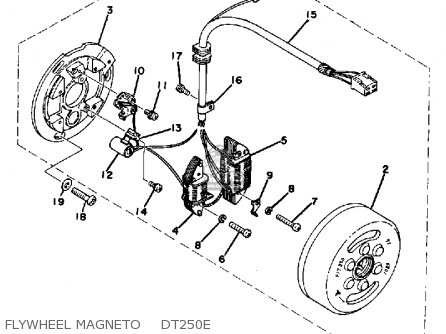 Yamaha Dt250e 1978 parts list partsmanual partsfiche