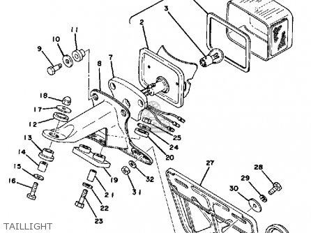 Yamaha Dt250e 1978 parts list partsmanual partsfiche