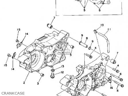 Yamaha Dt250f 1979 parts list partsmanual partsfiche