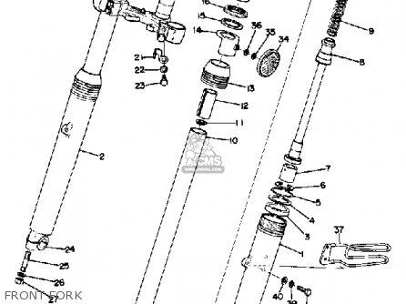 Yamaha DT360 1974 USA parts lists and schematics