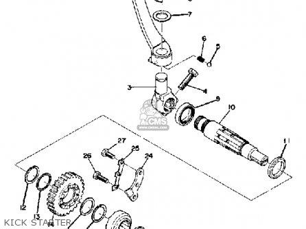 Yamaha Dt360 1974 Usa parts list partsmanual partsfiche