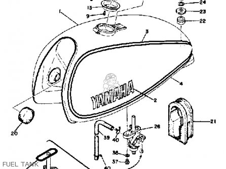 Yamaha Dt360a 1974 parts list partsmanual partsfiche