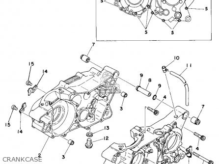 Yamaha DT400 1977 USA CANADA parts lists and schematics