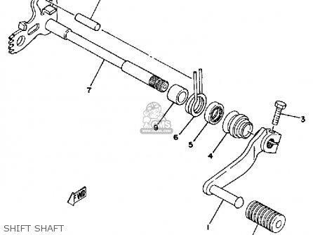 Yamaha Dt400 1978 Usa parts list partsmanual partsfiche
