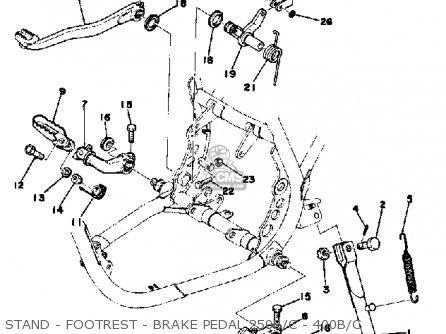 Yamaha Dt400b 1975/1976 parts list partsmanual partsfiche