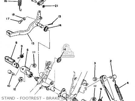 Yamaha Dt400e 1978 parts list partsmanual partsfiche