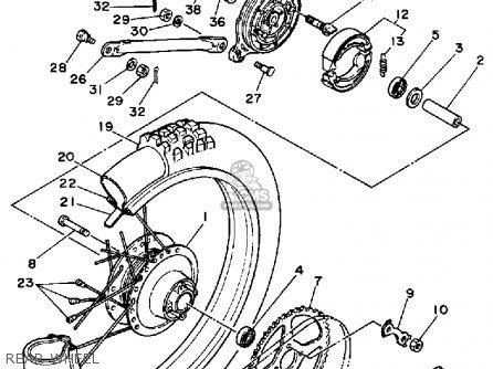 Yamaha DT50 DTL / C 1988 (J) USA parts lists and schematics