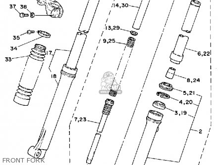 Yamaha DT50 DTL / C 1989 (K) USA parts lists and schematics