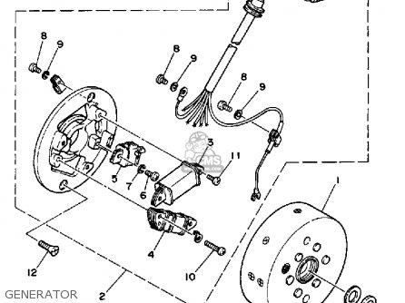 Yamaha Dt50 Dtl / C 1990 (l) Usa parts list partsmanual