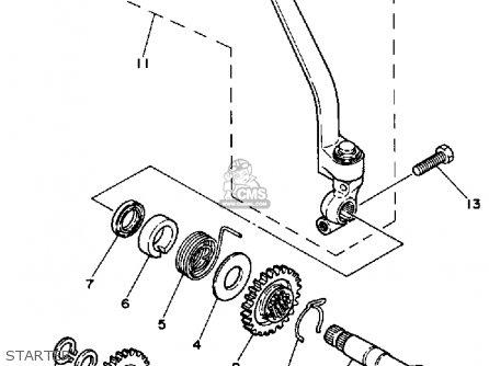 Yamaha Dt50a Dtl/c 1990 parts list partsmanual partsfiche