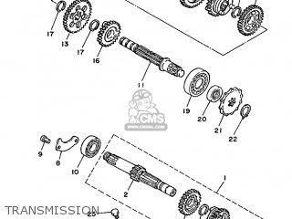 Yamaha DT50MX 1986 5M6 ENGLAND 265M6-310E1 parts lists and