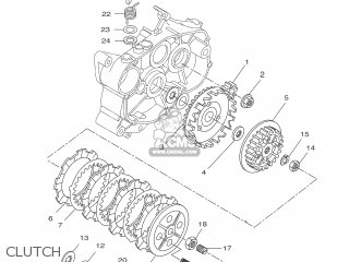 Yamaha DT50R 2003 1D41 ENGLAND 1B1D4-351F5 parts lists and