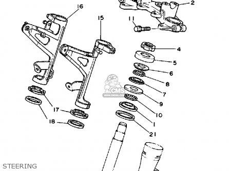 Yamaha Dt50u Dtl/c 1988 parts list partsmanual partsfiche