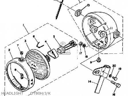 Yamaha DT80 1981 (B) USA parts lists and schematics