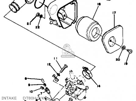 Yamaha Dt80 1982 (c) Usa parts list partsmanual partsfiche