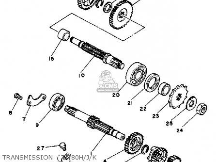 Yamaha Dt80 1983 (d) Usa parts list partsmanual partsfiche
