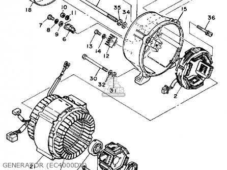 Yamaha EC4000DV GENERATOR parts lists and schematics