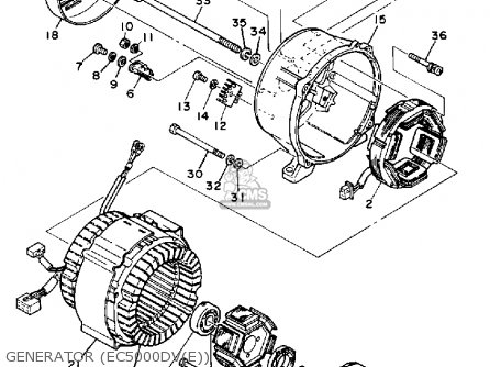 Yamaha EC4000DV GENERATOR parts lists and schematics