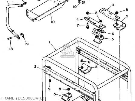 Yamaha EC5000DV EC5000DVE GENERATOR parts lists and schematics