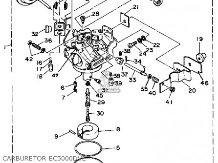 Yamaha Ec5000dv/dve Generator parts list partsmanual