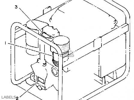 Yamaha Eda5000dve Generator parts list partsmanual partsfiche