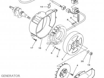 Yamaha EF1000IS 7VV2 GENERATOR 2002 parts lists and schematics