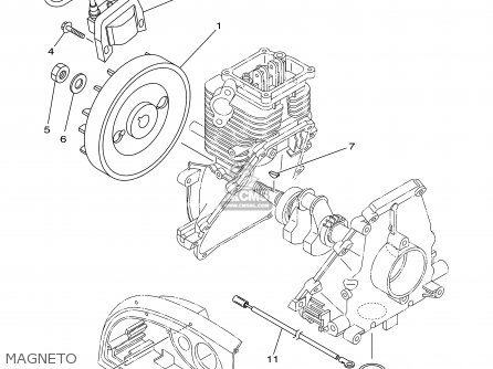 Yamaha Ef1000is 7vv2 Generator 2002 parts list partsmanual