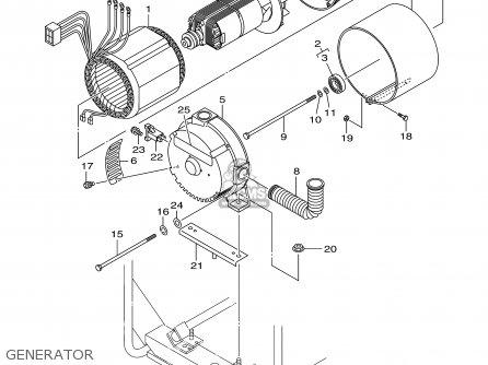 Yamaha EF12000DE 7UX2 GENERATOR 1999 parts lists and