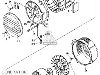 Yamaha Ef1600 Generator parts list partsmanual partsfiche