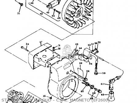 Yamaha EF1800 EF2600 EF1200 GENERATOR parts lists and