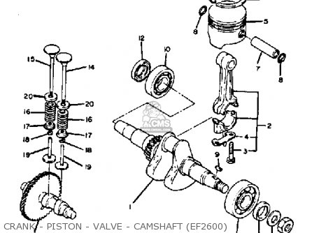Yamaha Ef1800/2600/1200 Generator parts list partsmanual