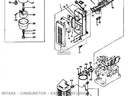 Yamaha Ef1800/2600/1200 Generator parts list partsmanual