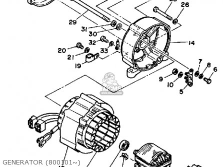 Yamaha EF2000 GENERATOR parts lists and schematics