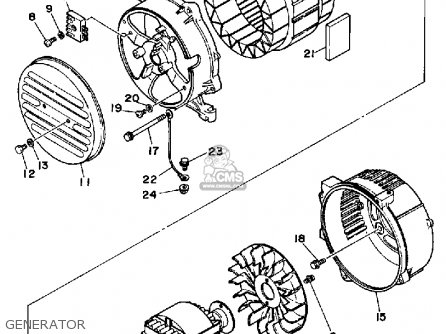 Yamaha EF2500 GENERATOR parts lists and schematics