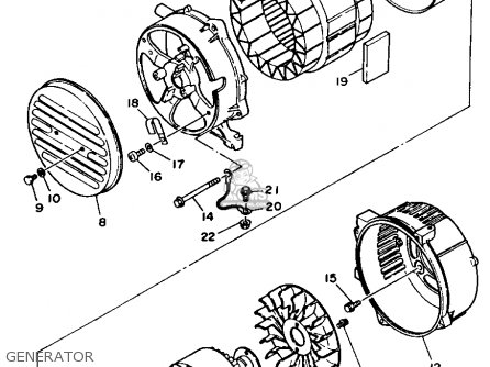 Yamaha EF2500R GENERATOR parts lists and schematics