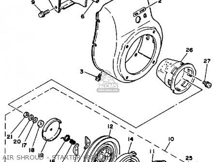 Yamaha EF2800 GENERATOR 1983 parts lists and schematics