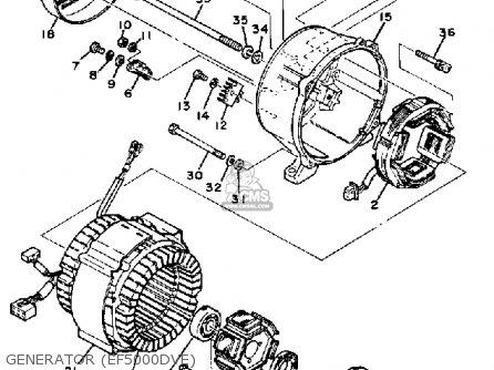Yamaha EF4000DVE EF5000DVE GENERATOR parts lists and