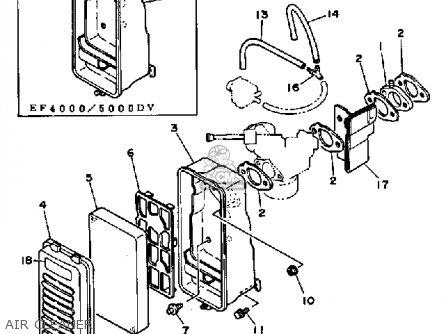 Yamaha Ef4000dve/ef5000dve parts list partsmanual partsfiche