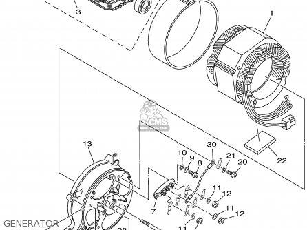 Yamaha EF4600A 7XB2 GENERATOR 2001 parts lists and schematics