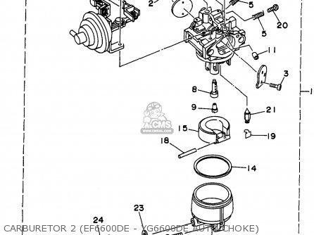 Yamaha Ef4600de/ef6600de/yg4600d/yg6600d/de 1998 parts