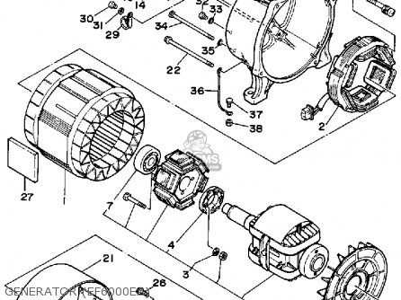 Yamaha EF5000EA EF6000EA GENERATOR OHV parts lists and