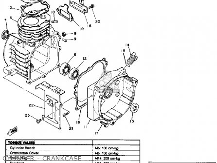 Yamaha Ef600 Generator parts list partsmanual partsfiche