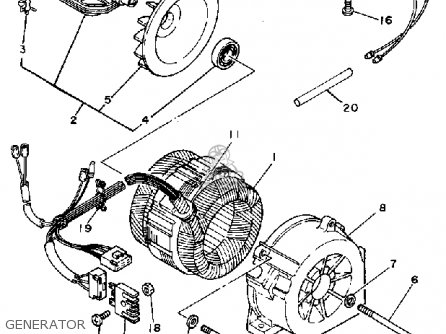 Yamaha EF600 GENERATOR parts lists and schematics