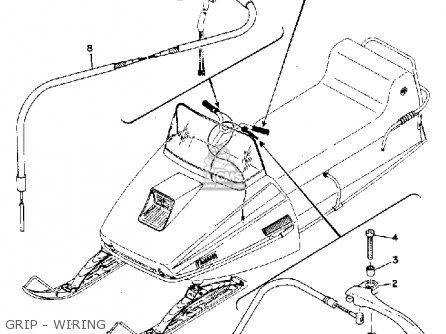 Yamaha El433b 1973 parts list partsmanual partsfiche