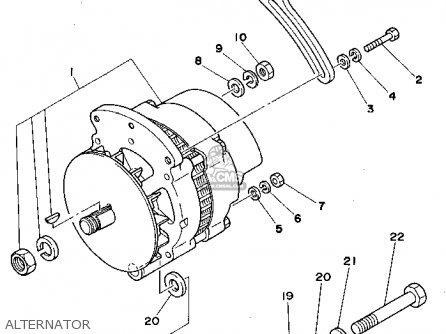 Yamaha Engine L4 3.0 1990 parts list partsmanual partsfiche